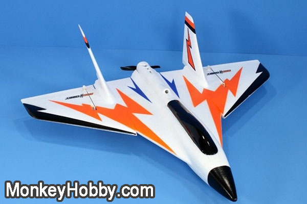 FMS RocHobby 27″ High Speed Swift ROC005 Delta Wing Racer RC Jet 3D Aerobatics (ARF) with battery