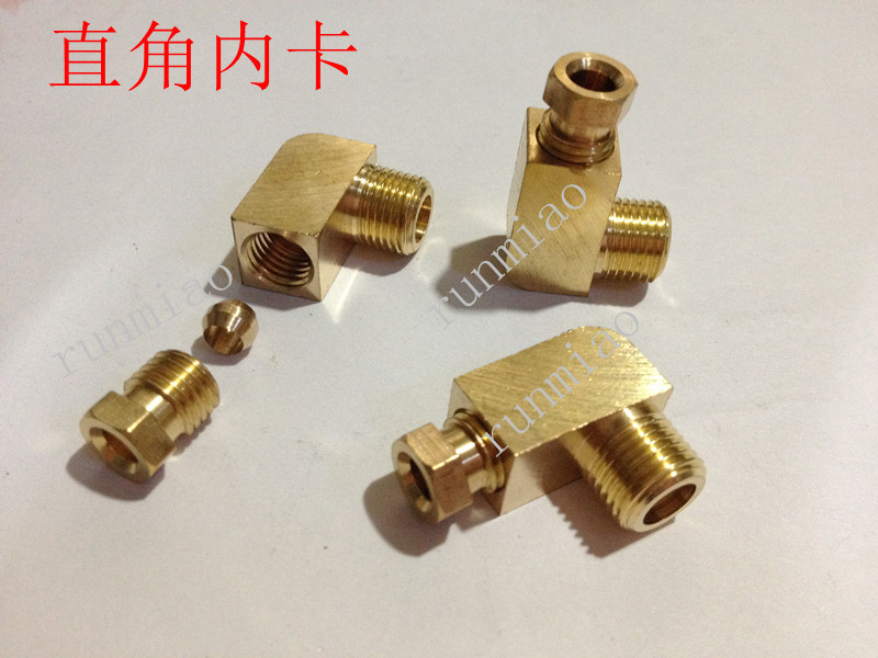 Copper card sets straight the card in the card right angle connector pipe joints M6X0.75 * 4 M6 * 4 M6 * 6(China (Mainland))