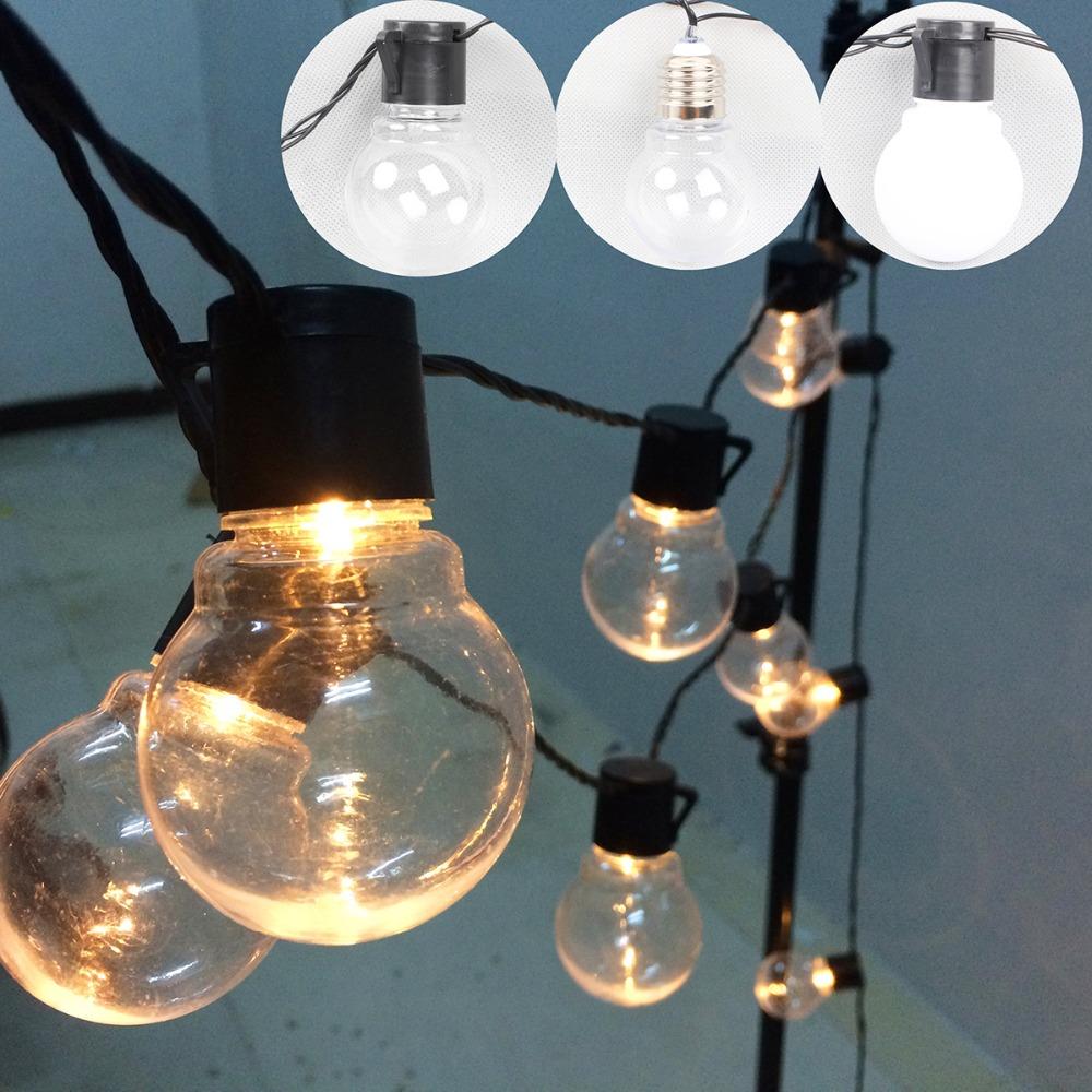 outdoor led christmas lights fairy 20 led globe connectable festoon ball string fairy light. Black Bedroom Furniture Sets. Home Design Ideas