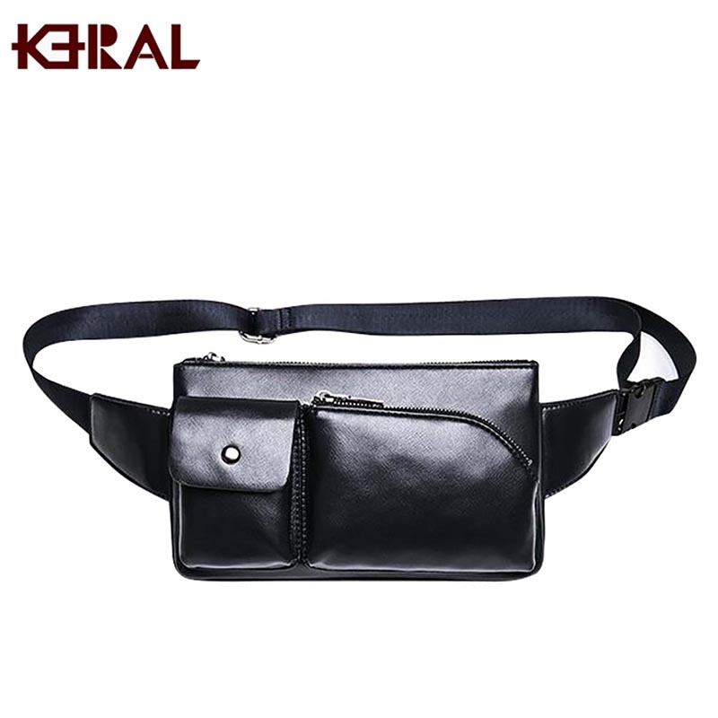 KERAL Men Oil Wax Cowhide Vintage Travel Hiking Riding Motorcylce Hip Bum Belt Pouch Fanny Pack Waist Purse Clutch Bag(China (Mainland))