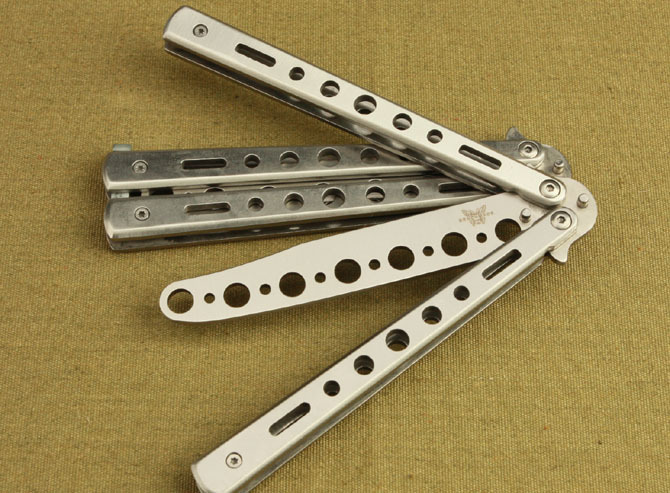Butterfly knife folding knife for training special cool No edge(China (Mainland))