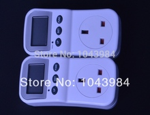 2PCS lot UK Plug Electric Energy Saving Power Meter Consumption Monitor Analyzer with Power Factor LCD