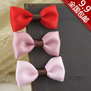 Free Shipping Great child small accessories bow side-knotted clip hair accessory fringe hairpin hair accessory 76