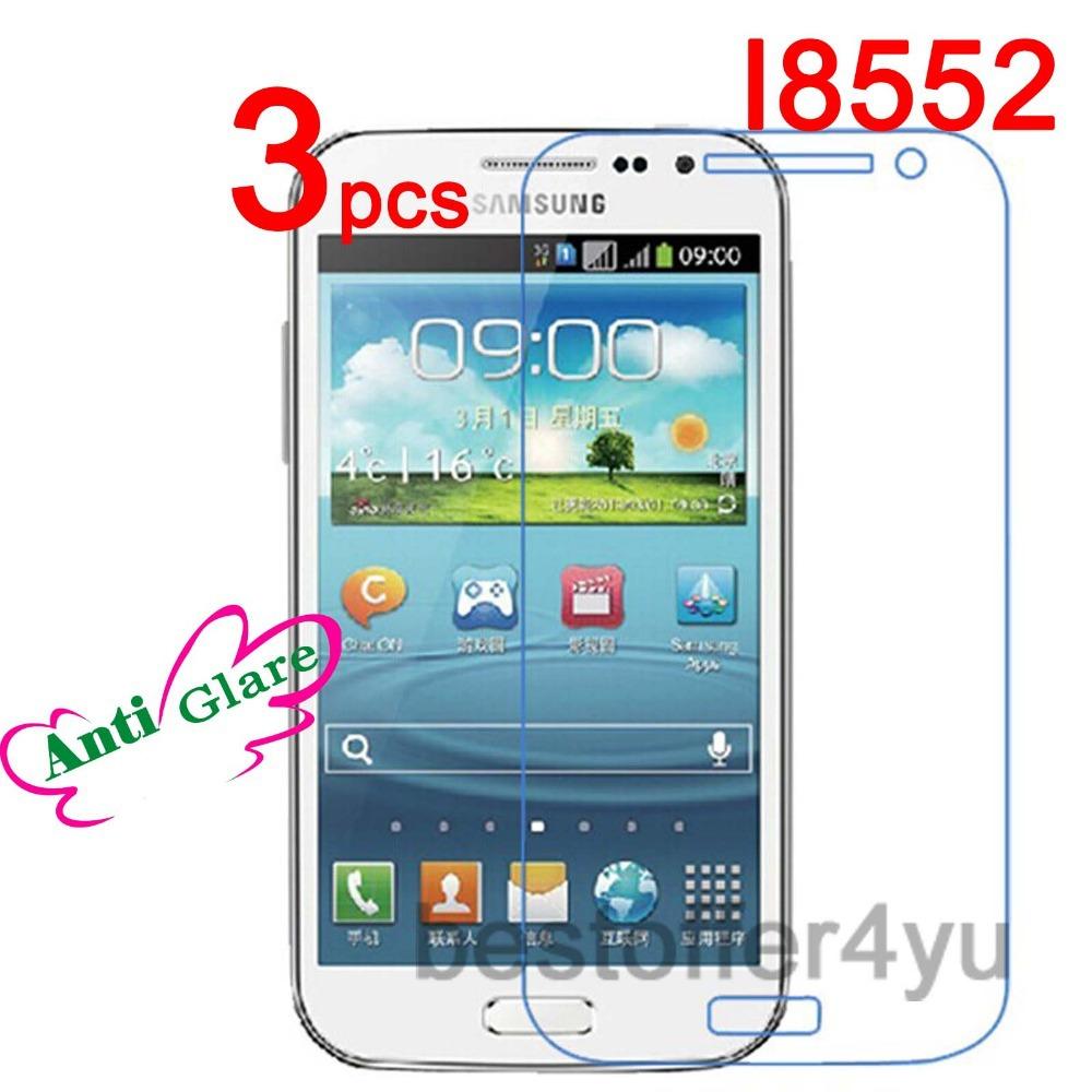 Матовый антибликовый с антибликовым покрытием защитная оболочкой для Samsung Galaxy Win i8552 защитная пленка + ткань чистки