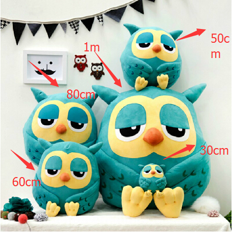 Hot Sale 1 Piece High Quality 30cm Super Cute Owl Plush Toys Baby Toys Super Soft doll as birthday(China (Mainland))