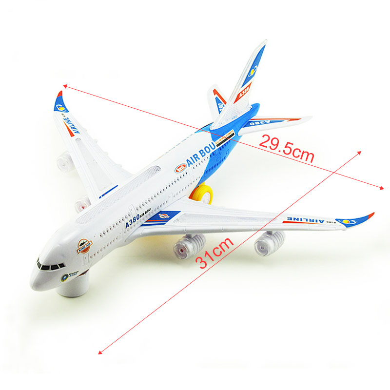 A380 Model Aeroplane With Flashing Light Sounds Music Electric Toy High quality Airbus Aircraft Airlines Plane(China (Mainland))