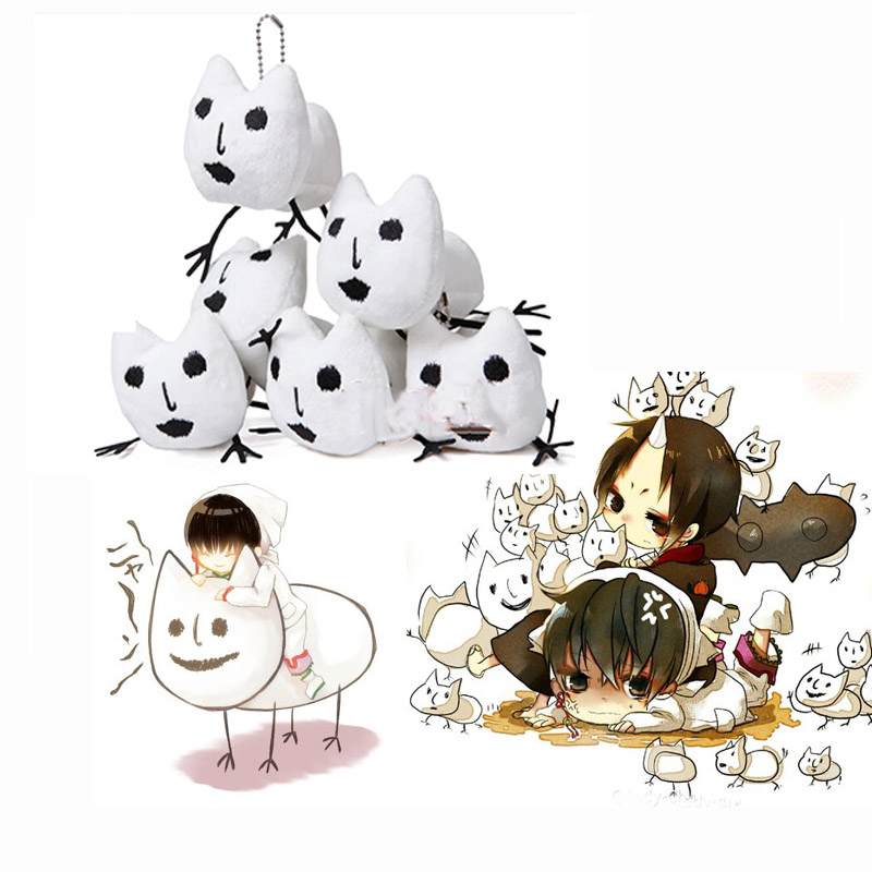 5pcs font b Japan b font font b Anime b font Hoozuki no Reitetsu White Cat