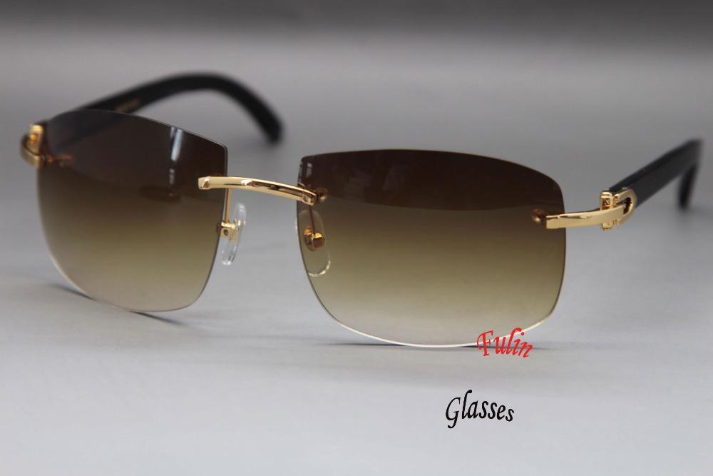 All Black Cartier Rimless Sunglasses Www Tapdance Org