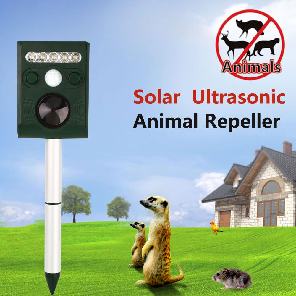 Outdoor Yard Ultrasonic Solar Cat Mouse Adjustable Pest Repeller Repellent Practical(China (Mainland))