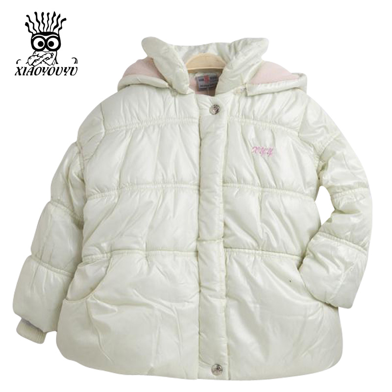 Size 110-150 cm Children Outdoor Winter Jacket Pink / White Solid Color Hooded Design Good Quality Kids Girl Fashion Casual Coat<br><br>Aliexpress