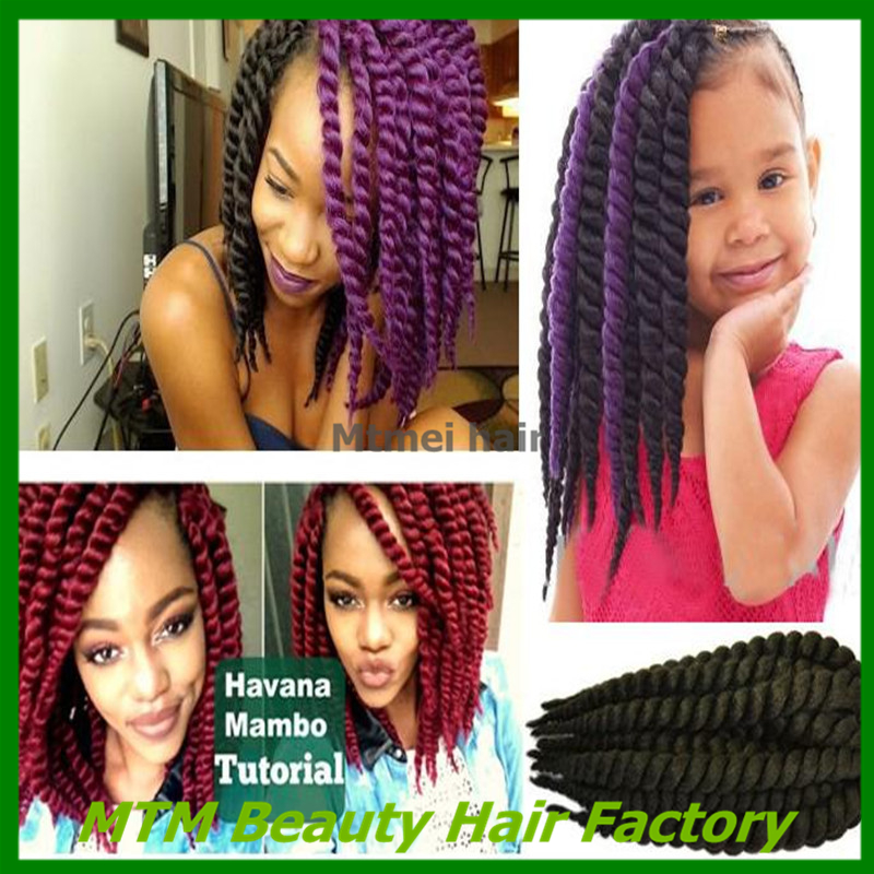 Crochet Braid Hair 12'' 80g/pack Synthetic Havana Mambo Crochet Twist Braids Senegalese Twist Freetress Braid Hair Extensions(China (Mainland))