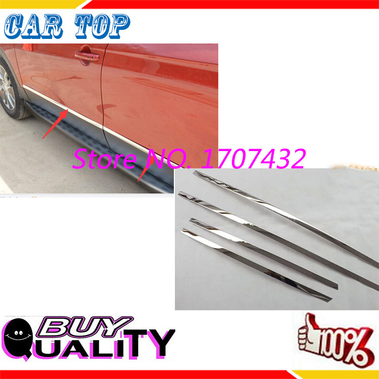Фотография Good Quaity Hot sale Stainless steel Side Door Body Molding Streamer Cover Trim Door Body Strip Decoration For S-CROSS