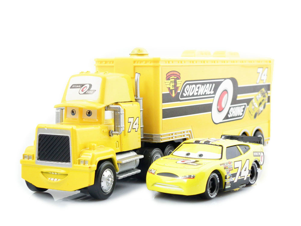 Pixar Cars Diecast Car No 74 Sidewall O' Shine Team & Hauler Truck Uncle Mack  Models Vehicles Kids Car Toys For Children(China (Mainland))