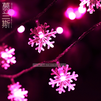 LED Christmas garland christmas decoration snow pendant string light indoor/outdoor 10M 100 bulbs 8 functions control 110V/220V(China (Mainland))