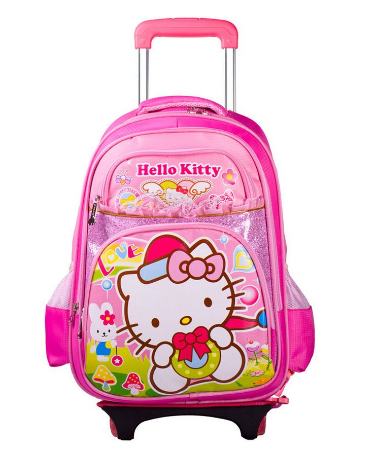 fast shipping hello kitty kids school bag for girls hello