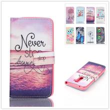 Teddy bear owl Wallet PU Leather Cover Case For LG K10 LTE K430 K430ds K420N K 10 Flip Protective Phone Case Back Cover Skin Bag