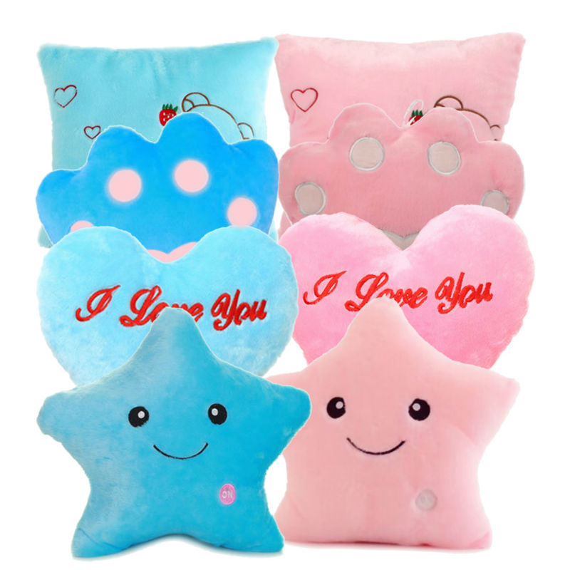 Dream Colorful Glow LED Luminous Light Pillow Cushion Cosy Soft Relax Gift   CA1T(China (Mainland))