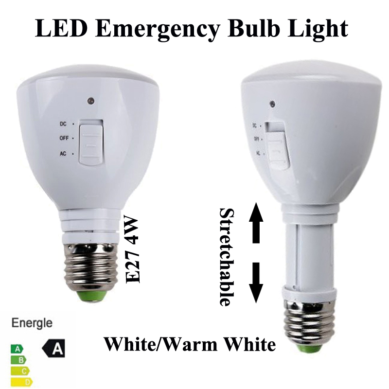 AC85-265V E27 4W built-in battery led bulb rechargeable LED light torch emergency lamp Flashlight stretch Magic LED light Bulbs(China (Mainland))
