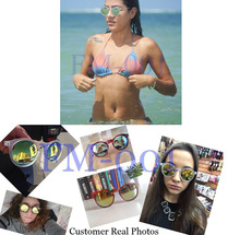 Fashion multicolour 2015 mercury Mirror glasses men sunglasses women male female coating sunglass gold round OCUL