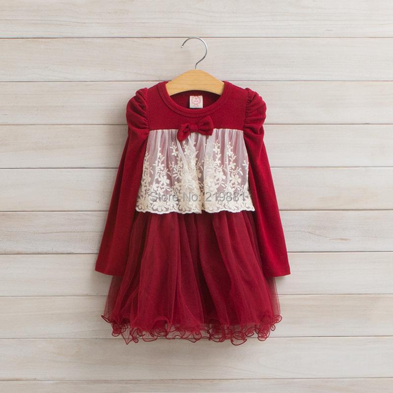 Kids autumn lace bow tutu dress , dress party girl , kids clothes girls, 5pcs/lot   LXJ33 <br><br>Aliexpress
