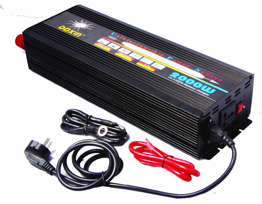 Free Shipping DC to AC UPS 2000W 12V 110V 120V (4000W Peak)Power Inverter 2000W With Battery Charger<br>