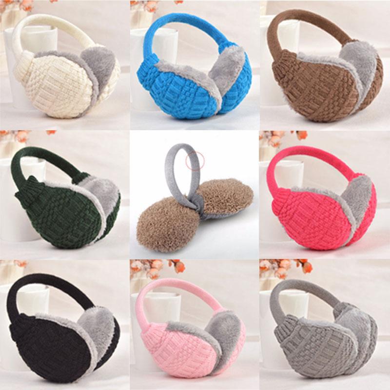 Hot Fashion Winter Warm Knitted Earmuffs Ear Warmers Women Girls Ear Muffs Earlap Warmer Headband H9(China (Mainland))