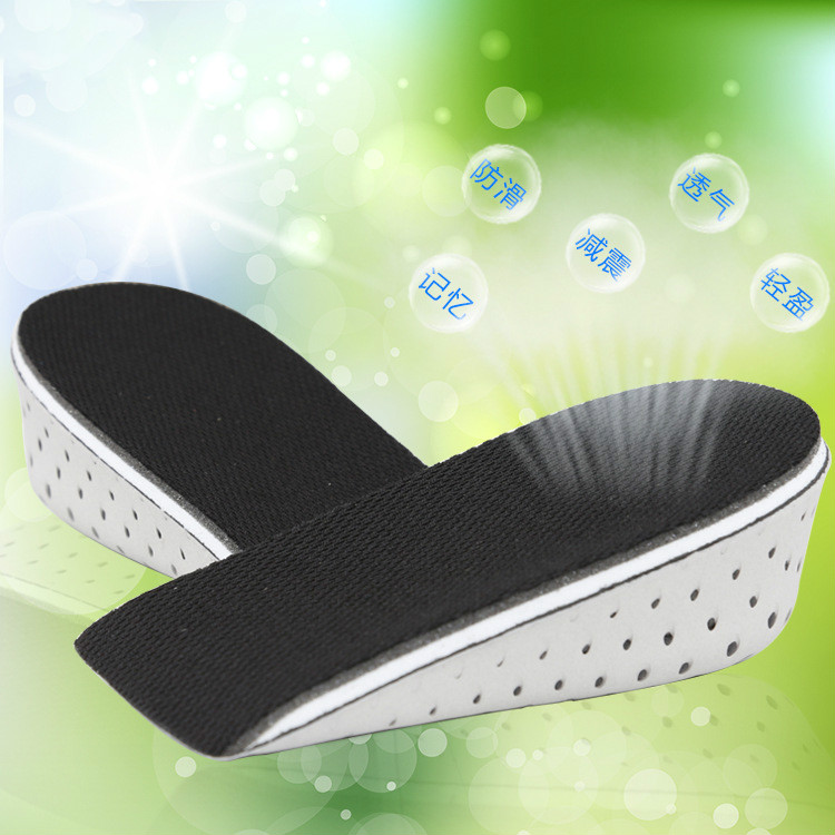 2016 Unisex memory of the cotton padded mattress pad and Increase Height High in the shoe Inserts Cushion Pads half insoles(China (Mainland))