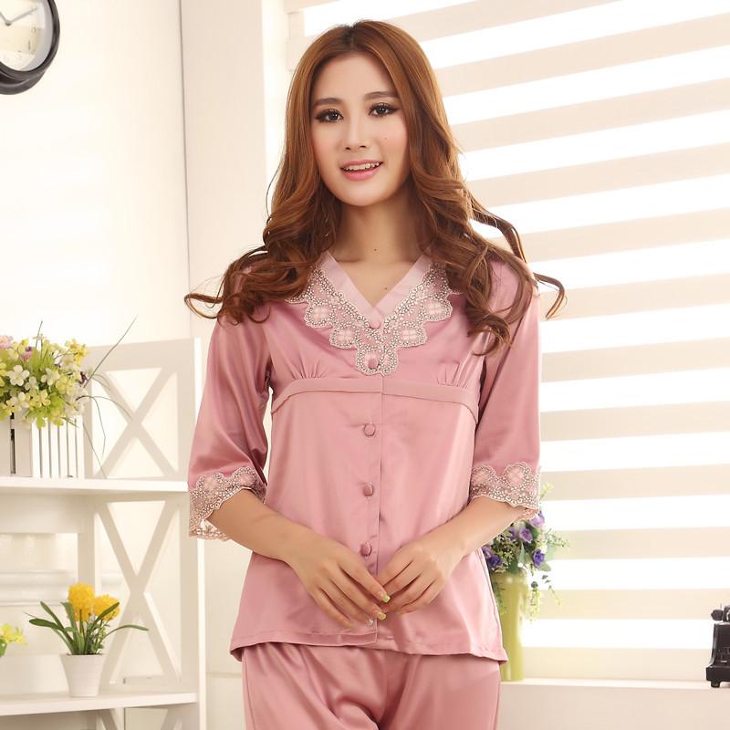 nachtkleding zijden pyjama