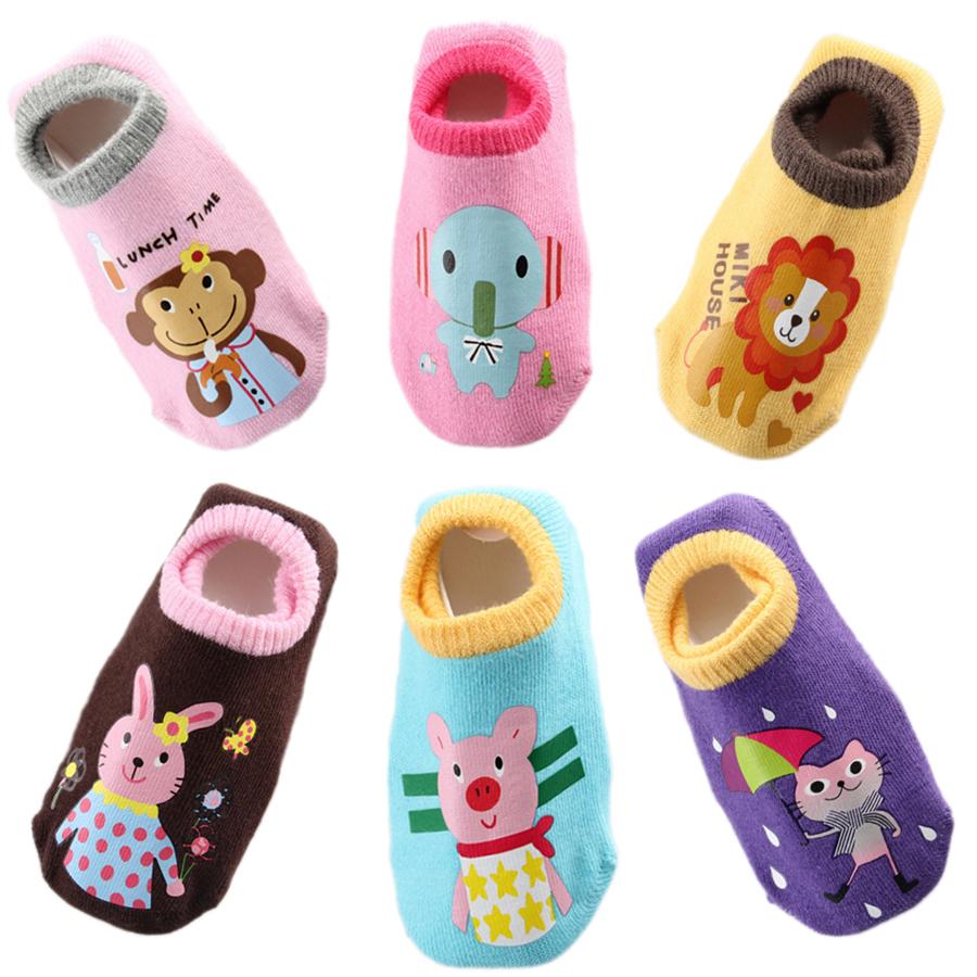 6 Pairs Baby Socks Infant Boy Girl Anti Slip Skid Short ...