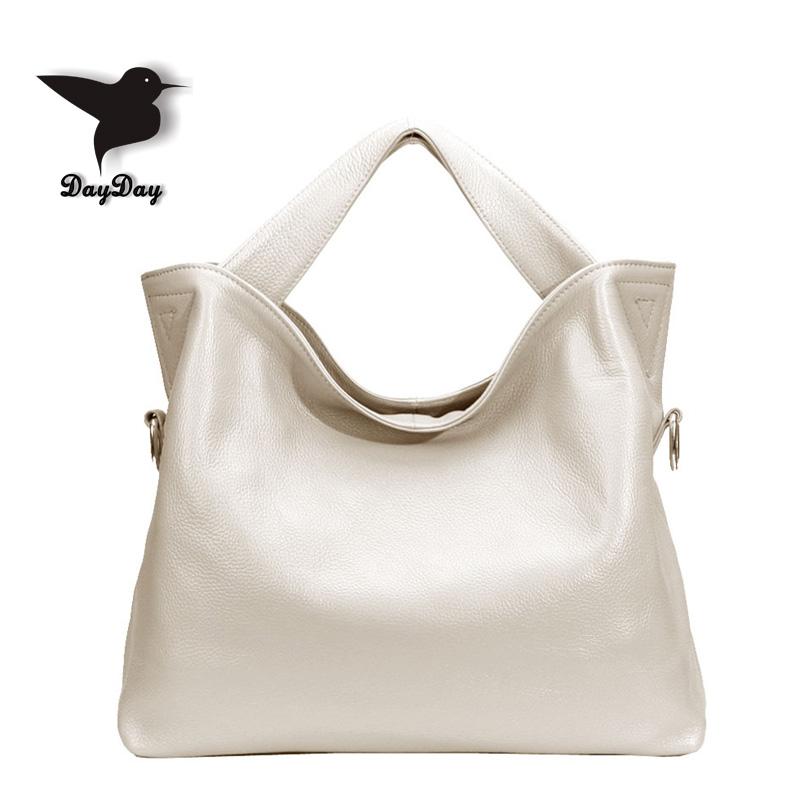 New Casual Deformable real leather red bags Women Shoulder Bag Brand Women Handbag  Ladies tote Bolsas Femininas Free shipping<br><br>Aliexpress