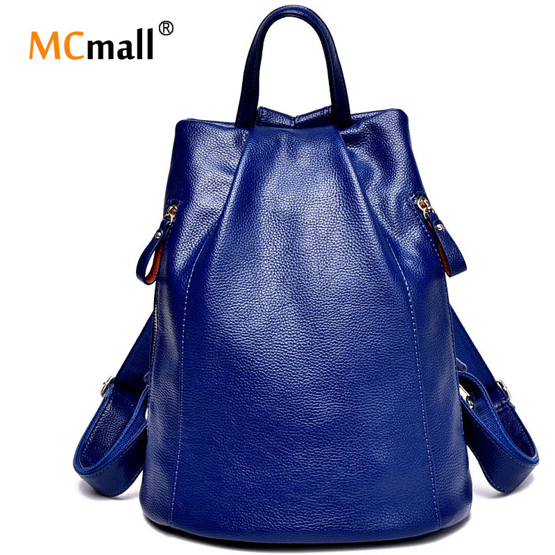 Women Leather Backpack For Girls School Bags Travel mochila escolar feminina vintage college santoro young girl Women Bag BD-001(China (Mainland))