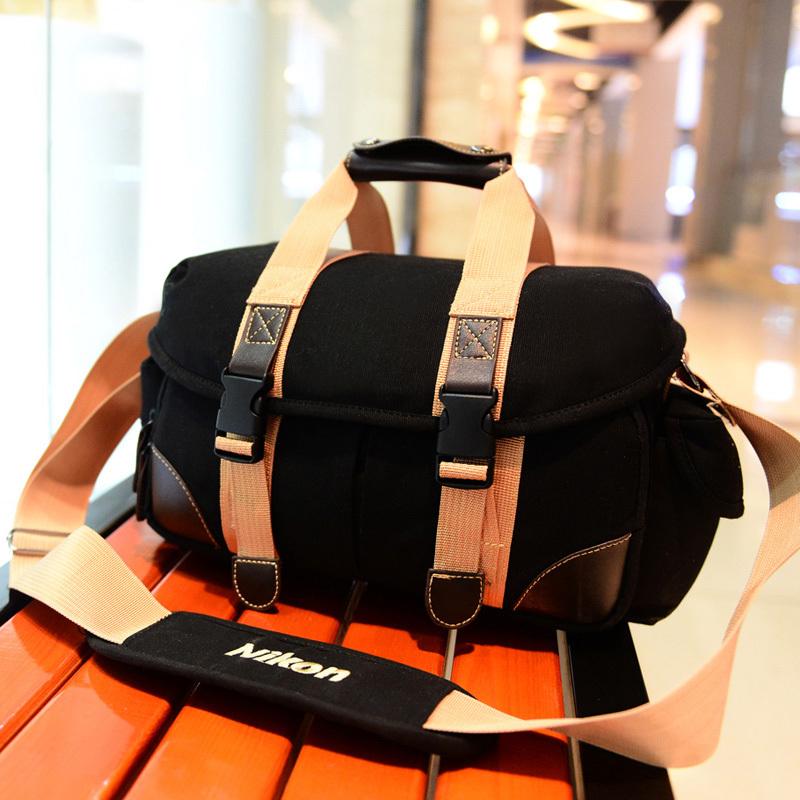 New women men canvas Digital camera SLR camera Video camera travel sport shoulder cross bags camera package(China (Mainland))