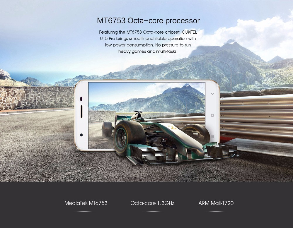 "Original Oukitel U15 Pro Smartphone MT6753 Octa Core Android 6.0 Cellphone 5.5"" 3G RAM 32G ROM 4G LTE FingerPrint Mobile Phone"