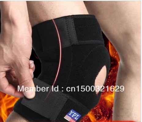 Free shipping knee brace outdoor sports for protect knee pads good quality lower price adjustable knee guard wrap protector