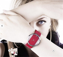 Relojes Mujer 2015 New Fashion Leather Quartz Watch Women Transparent Minimalism Dress Watches For Ladies Reloj