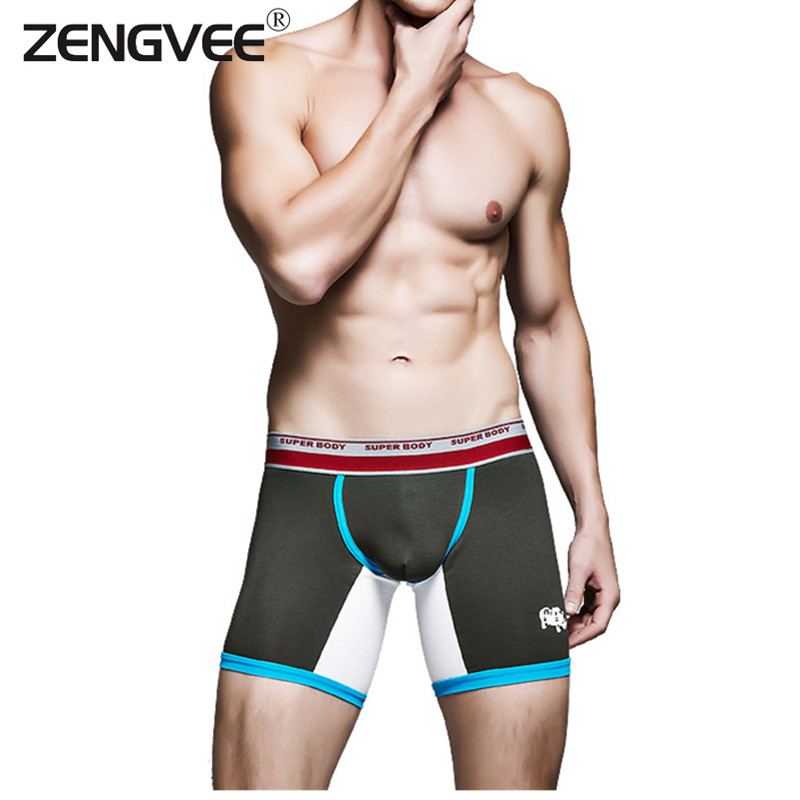Men's Boxer Underwear Best Selling High Quality Cotton Comfortable Long Leg Sexy Mens Boxers Short Male Underpants(China (Mainland))