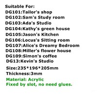 Robotime 6 Kinds DIY House with Furniture Children Adult Miniature Wooden Doll House Model Building Kits Dollhouse Toy DG(China)