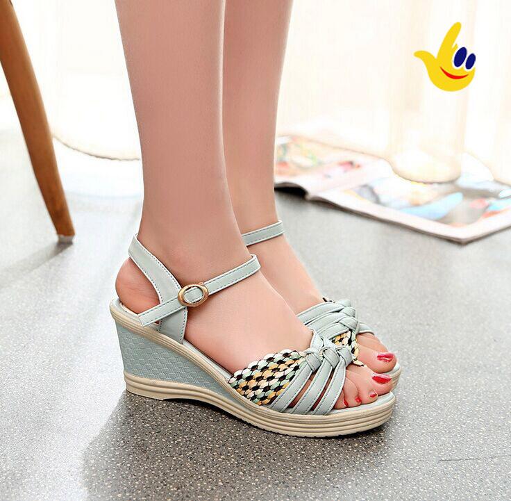 2015 Summer Shoes New Medium(b,m) 3 5cm Fashion Women ...