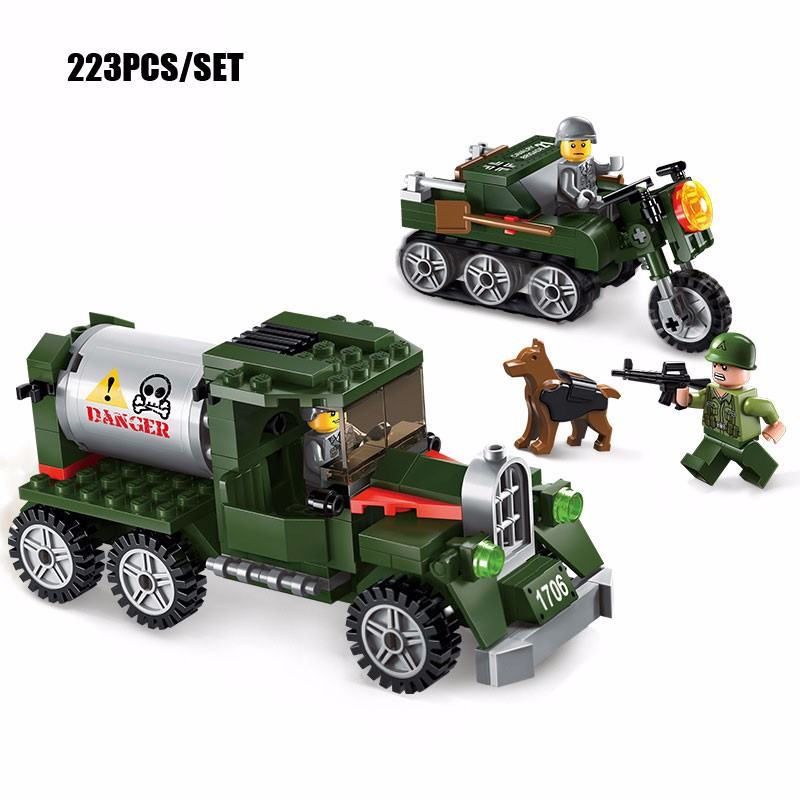 Motorcycle Toys For Boys : Pcs military us figures intercept transporter and