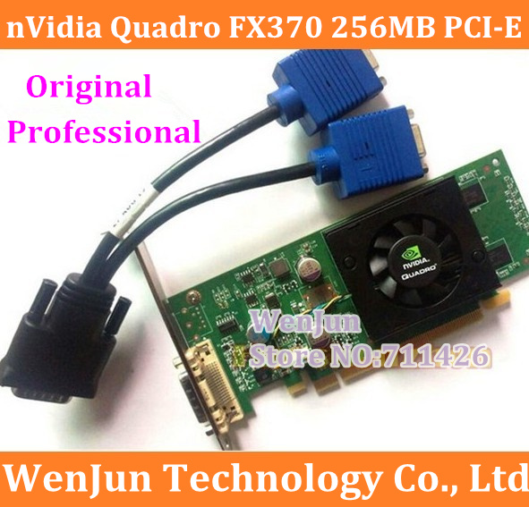 Original Quadro FX370 265MB 64bit video card PCI-E DMS-59 include DMS 59to VGA power cable DMS 59 warranty 1year(China (Mainland))