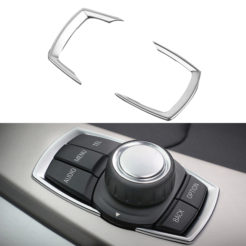 2Pcs/Set Car Styling Audio Switch Button Cover Decoration Trim Frame ABS Chrome For BMW 2 3 4 Series F22 F30 2012 2013 2014 2015<br><br>Aliexpress