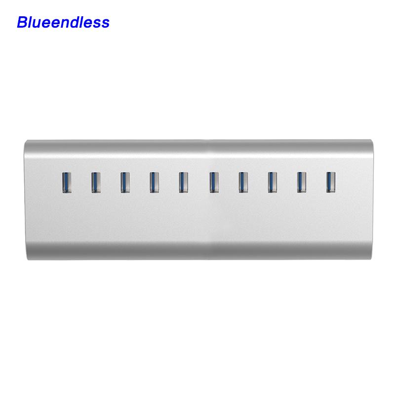Super Multifunctional 10 Ports USB HUB USB 3.0 Aluminum Computer Accessories for Notebook Desktop Hub(China (Mainland))