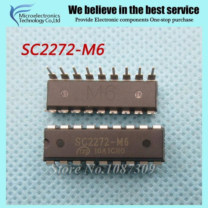 10pcs free shipping SC2272-M6 SC2272 M6 SC2272M6 DIP-18 Encoding decoder IC new original(China (Mainland))