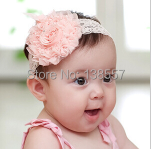Colorful Baby Newborn Toddler Girls flower bud silk Headband Head Wear Hair band Photography Prop(China (Mainland))