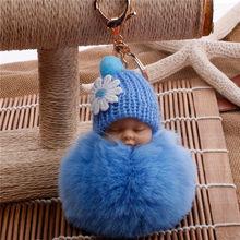 Boneca dos desenhos animados Hairball Chaveiro De Pelúcia Chaveiro Carro Bolsa Das Mulheres Fivela Chave Chaveiros de Pelúcia(China)