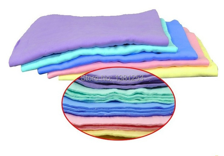 3PCS Free Shipping Car Dry Washing Cloth Wipe Cleaning Towel Synthetic Chamois Leather Absorber 9xzWf(China (Mainland))