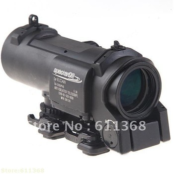 4X Magnifier Rifle Scope Riflescope + Wrench + Bag + Clean Cloth