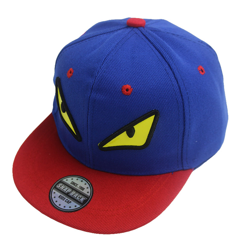 Fashion Boy Baseball Caps For 3-8 Years Old Children Monster Design Snapback Caps High Qaulity Adjustable Cap For Girl CC029(China (Mainland))