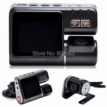 Dual Lens Car DVR I1000 Car Camcorder with External Rear View Camera H 264 120 Degree