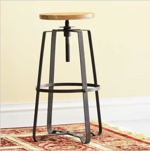 Cheap air bar stool high chairs chair lift Fujian Industrial retro black white(China (Mainland))